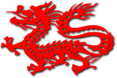 Red Chinese Dragon Cut Out PNG Images