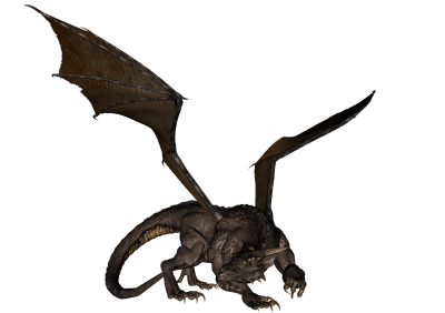 Realistic Dragon Vector PNG Images