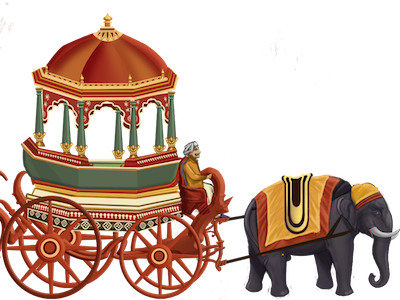 Elephant Cart At Mysore Dasara Png