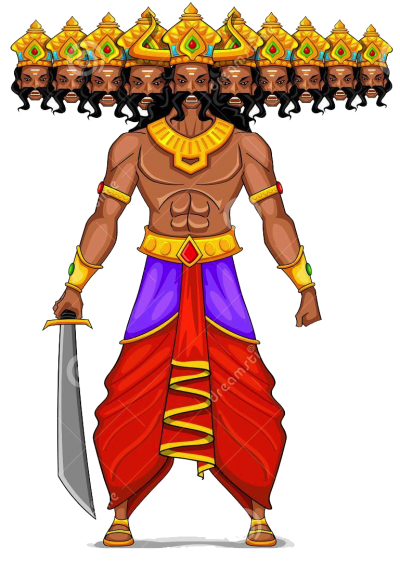 Multi Headed Ravana Png Transparent   PNG Images