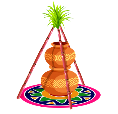 Sankranti Designed Pot Hd Png File Pictures PNG Images