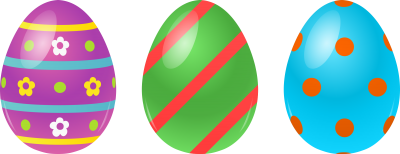 3 Easter Eggs Vector