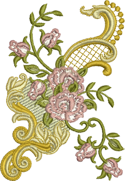 Flors Embroidery Png PNG Images