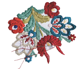 Natural Flowers Embroidery Png