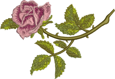 Rosa Embroidery Png PNG Images