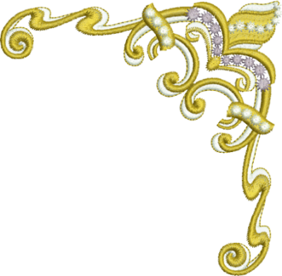 Yellow Gold Embroidery Png