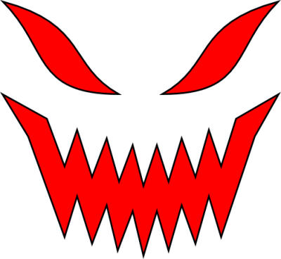 Evil Face Red Clipart PNG File