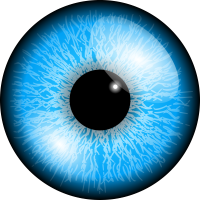 Eye, Blue, Circle, Black