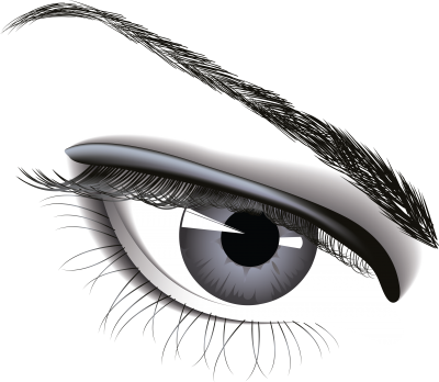 Eye And Brow Of Woman PNG Images
