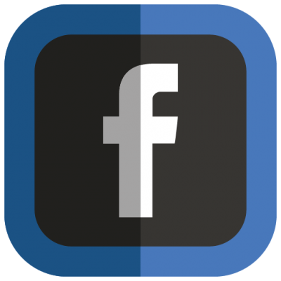 Facebook Folded Social Media Icons Png PNG Images