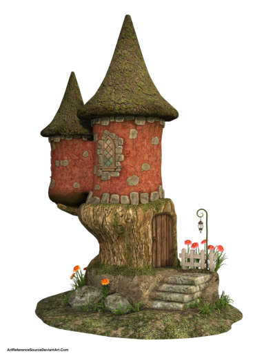 Cute Fairy House Picture PNG Images
