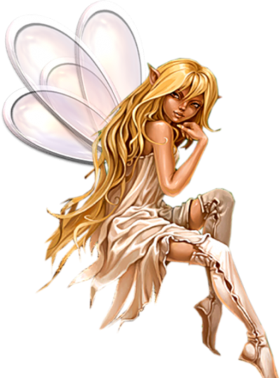 Fantasy Fairy Blonde Sitting Png Images PNG Images