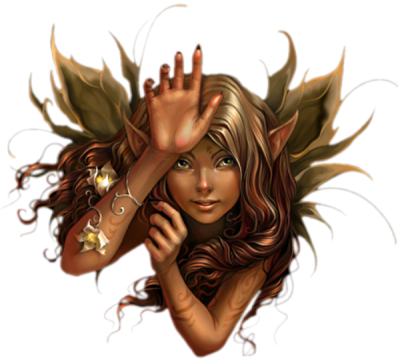 Fantasy Fairy Head Golden Picture PNG Images