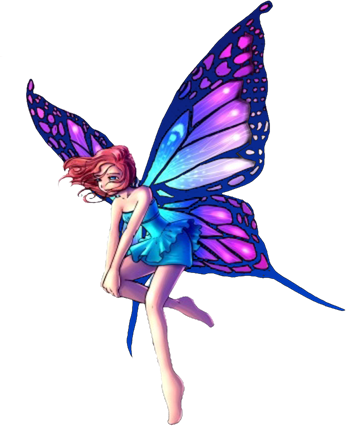 Fantasy Fairy Standing Big Purple Wings Pictures