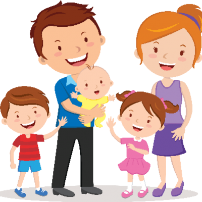 Cartoon Family Transparent Clipart PNG Images