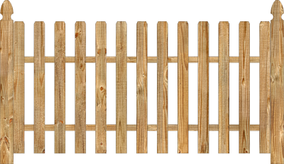 Spaced Picket Wood Fence images PNG Images