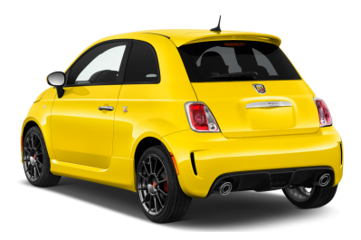 Yellow Fiat Back View Cut Out PNG Images