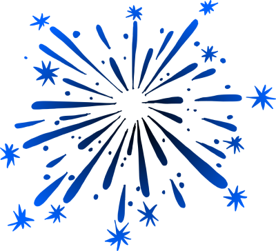 Blue Fireworks Drawing PNG, Photo Drawing, Flair