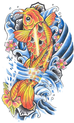 Fish Tattoos Vector PNG Images