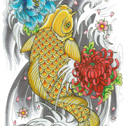 Simple Fish Tattoos PNG Images