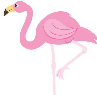 Pink Flamingo Png With One Foot in Air PNG Images