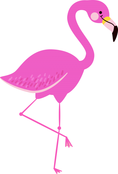 Sweet Flamingo Design With Thin Feet Transparent Background PNG Images
