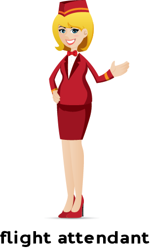 Learn English Flight Attendant Png PNG Images