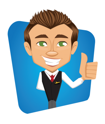 Male Flight Attendant Clipart Image
