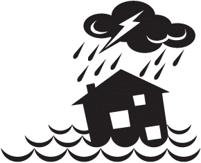 Rain, Sea, House Flood Icn Png PNG Images