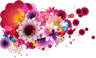Colorful Hand Drawn Floral Hd Png PNG Images