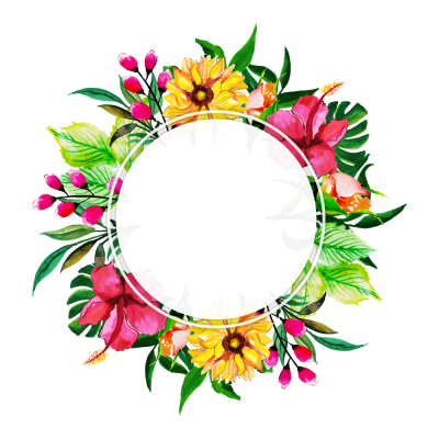 Round Frame With Floral Clipart Trasparent Pattern PNG Images