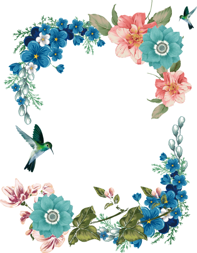 Frame With Flower Design For Special Occasions PNG Images