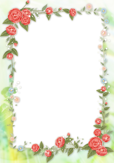 Floral Patterned Picture Frame Leaf Frame Edges