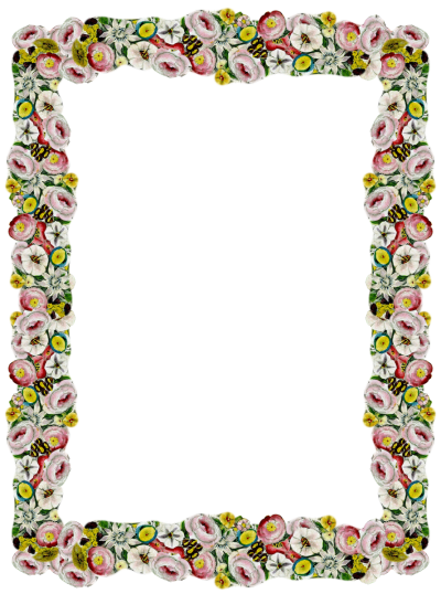 Digital Vintage Flower Frame And Border Pictures PNG Images
