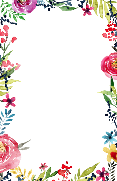 Floral Borders Invitations Png PNG Images
