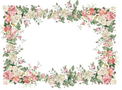Flower Frame Page Borders Pictures PNG Images