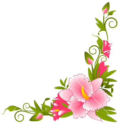 Flower Vector Png Flower Border Vector Pictures PNG Images