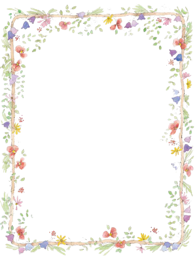 Flowers Borders Png Transparent PNG Images