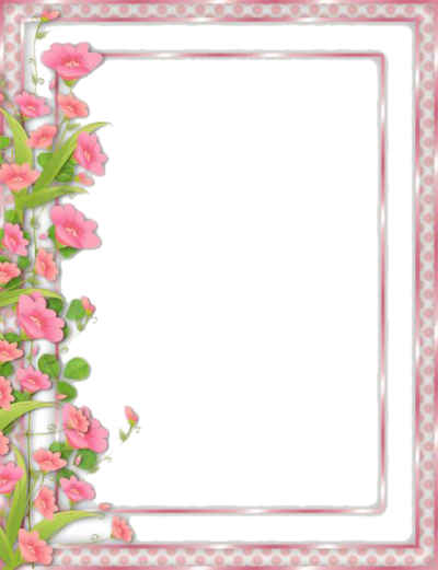 Flowers Borders Png Transparent Pic PNG Images
