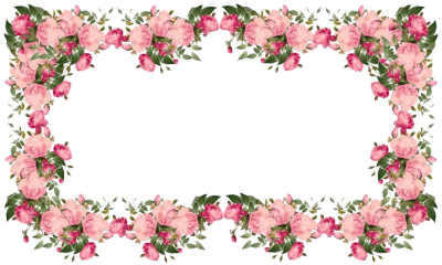 Pink Table Flowers Borders Transparent Images