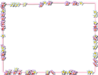 Purple Flowers Borders Png Transparent