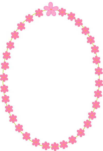 White And Pink Flowers Border Png PNG Images