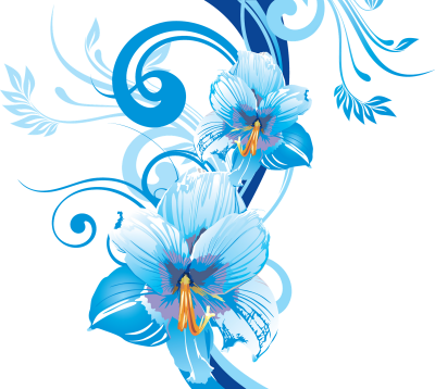 Blue Flower Vectors Various Desings Pictures