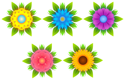 Flowers Vectors Png Transparent Pic