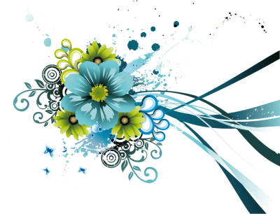 Vector Flowers Image