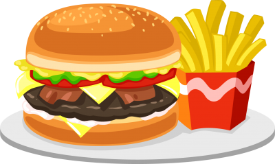 Hamburger, Potato, Chips, Food Free Download PNG Images