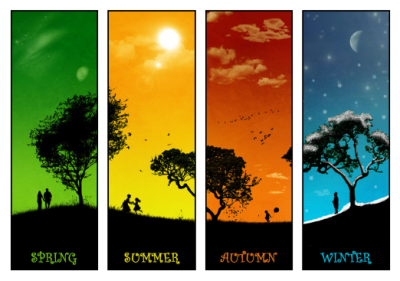 Rain, Snow, Sun, Seasons, Of, The, Year,trees, Colors Png PNG Images