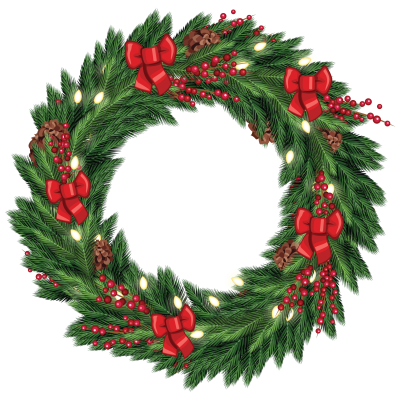 Christmas Wreath Graphic From Tradigitalart Pictures PNG Images