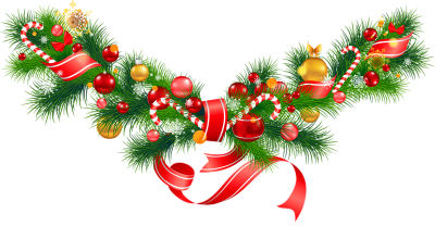 Christmas Decorations Clipart  Merry Christmas Garland Images PNG Images