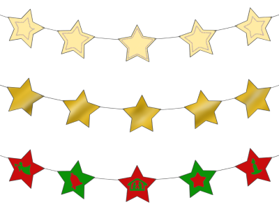 Star Garland Images PNG Images